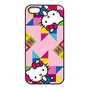 iPhone 5 5s Cell Phone Case Black Hello Kitty Colorful TR2291357