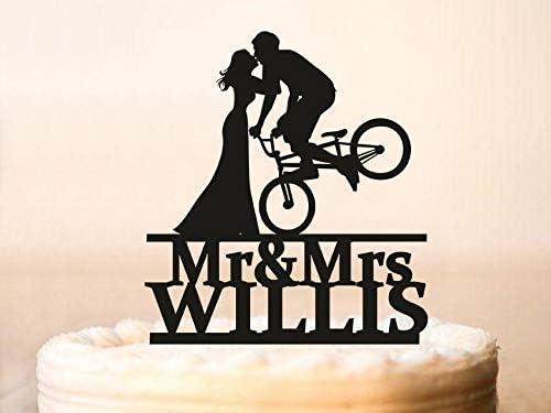 Decoración para tarta de boda, diseño de siluetas de novia y novio ...
