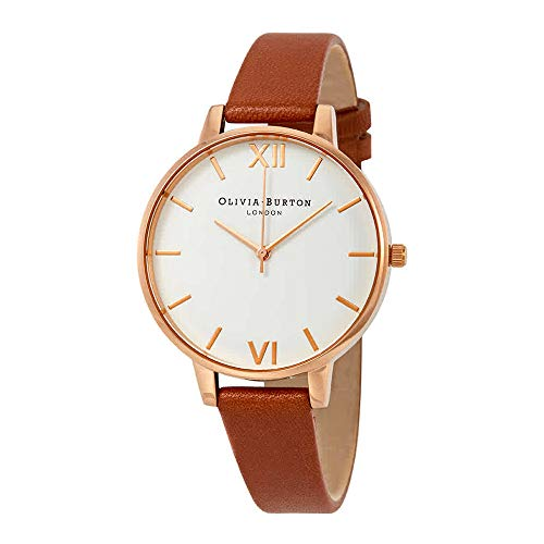Olivia Burton Womens Analogue Quartz Watch with Leather Strap OB16BDW19 ()