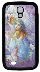 Cool Painting Samsung Galaxy I9500 Case, Samsung Galaxy I9500 Cases -Flower Fairy PC Rubber Soft Case Back Cover for Samsung Galaxy S4/I9500
