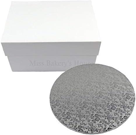 Miss Bakerys House® Caja para tartas con tabla de MDF - 30x30x15 ...