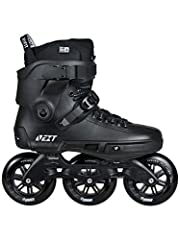 Powerslide's NEXT Blackout 110 Skates look incredible in all black. At 110mm, they can skate distance, but they also have the strength and response to take on slides, stairs, jumps, etc. NEXT boots are the first trinity-mount hard shell boots...