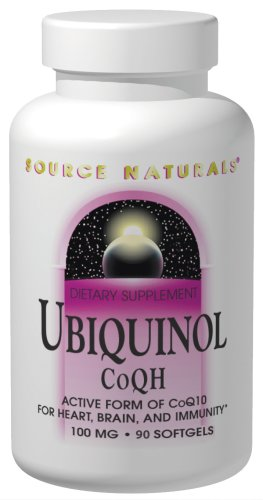 Source Naturals Ubiquinol CoQh 100mg, 90 Softgels