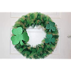 Extra Full St. Patty's Day Themed Tulle Wreath 80