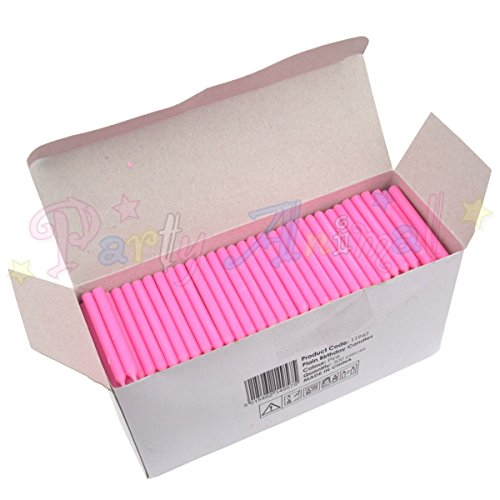 Bulk Pack of Plain Birthday Candles or Holders - Packs of 500 - Cake decoration accessories (Pink Candles) by Culpitt