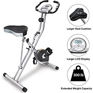 b82273227d9 Amazon.com : Exerpeutic Folding Magnetic Upright Exercise Bike with ...