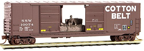 Micro-Trains MTL N-Scale 50ft Double Door Box Car Cotton Belt/SSW (Double Plug Door Boxcar)