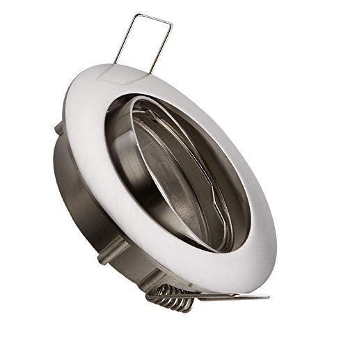 Aro Downlight Circular Basculante para Bombilla LED GU10 / GU5.3 Niquel Satinado efectoLED: Amazon.es: Iluminación