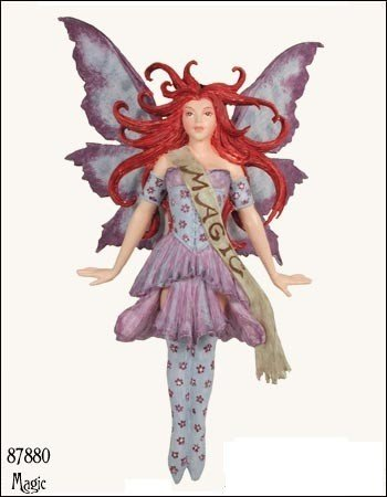 Magic Ornament Amy Brown Fairy Art Work In Poly Stone