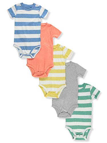 Carter's Baby Boys 5 Pack Bodysuit Set, Stripes, 18 Months