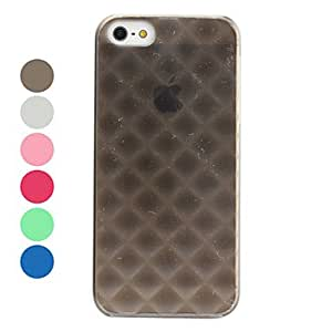 Diamond Pattern Frosted Surface Hard Case for iPhone 5/5S (Assorted Colors) --- COLOR:Blue