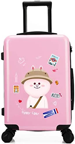 GaoMiTA 24 inch Suitcase Small Fresh College Student Trolley Universal Wheel Suitcase Color : Pink