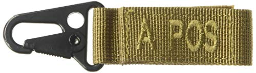 VooDoo Tactical 20-9722007000 Blood Type Tag - A Pos A Positive/Brown Letters, Coyote Webbing