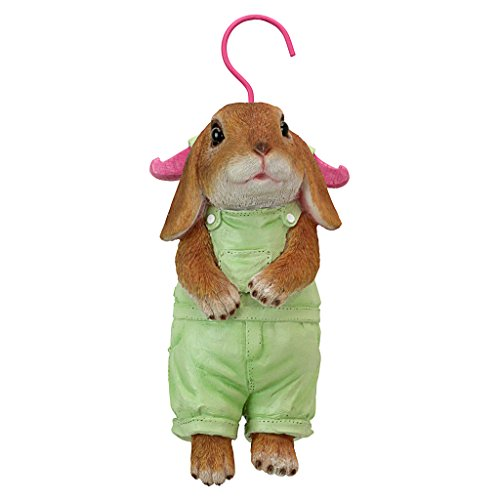 Design Toscano QM2928400 Hanger Hare Hanging Bunny Rabbit Statue, Full Color ()