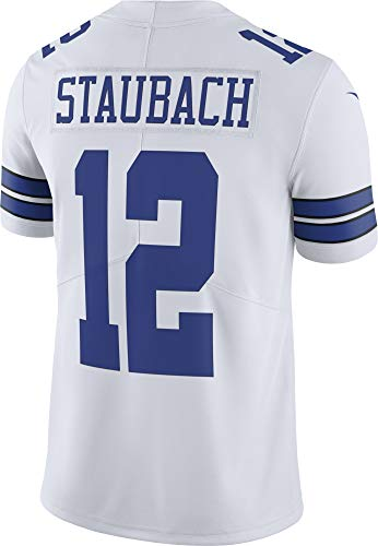 NFL Mens Dallas Cowboys Roger Staubach NIKE Jersey, Limited White, Medium