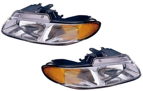 QP D110C/D-b Plymouth Voyager Passenger/Driver Lamp Assembly Headlight 2-pc Pair