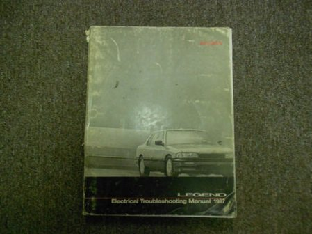 1987 Acura Legend Electrical Troubleshooting Manual FACTORY OEM 87 SPINE DAMAGE - Acura Legend Transmissions