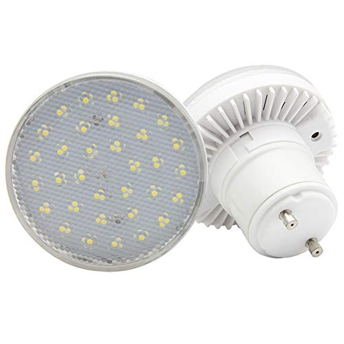 GU24 LED Squat Light Bulb 7W,Lock Base Halogen Bulb (60-watt Replacement), 600 Lumen, Light Bulb with Plug-in GU24 Base, White Light (6000K),AC 120V