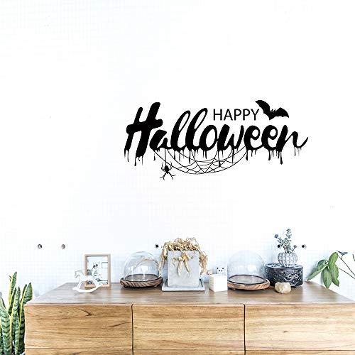 Exteren Halloween Witch Background Decorated Living Room Bedroom Wall Stickers Grim Reaper Wall Stickers for Living Room Kitchen Bathrooms Bedroom etc (Black) -