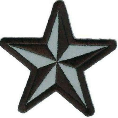 Nautical Star Reflective Quality NEW Motorcycle Navy Biker Vest Patch PAT-1277 by heygidday   B007WMYL8G