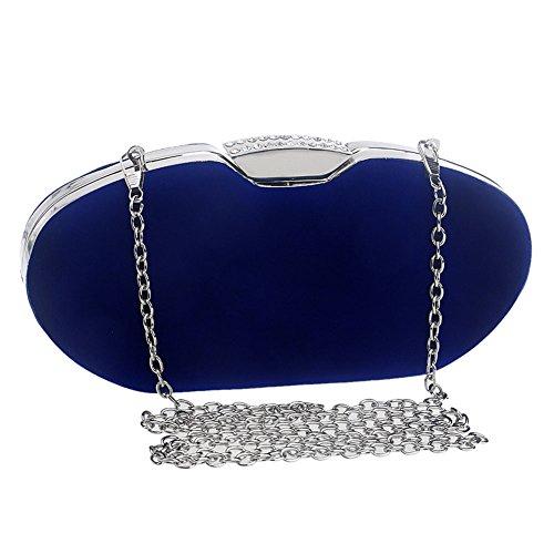 Fashion Bag Color Dinner Women's Suede Dress 2 Evening Clutch Banquet 3 QEQE Bag Lady wqSZCppXx