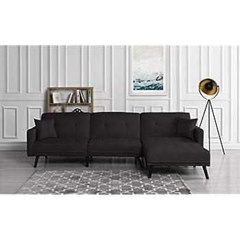 Amazon.com: Futon Recliner Sleeper Sofa Bed/Couch, Convertible Futon ...