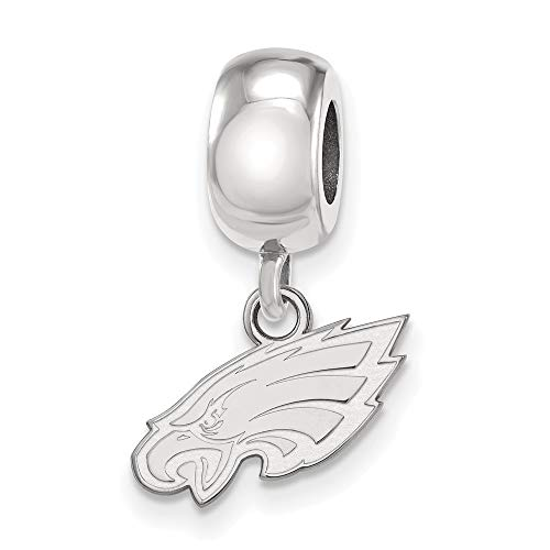 925 Sterling Silver Rh-plat Philadelphia Eagles Bead Charm XS Dangle