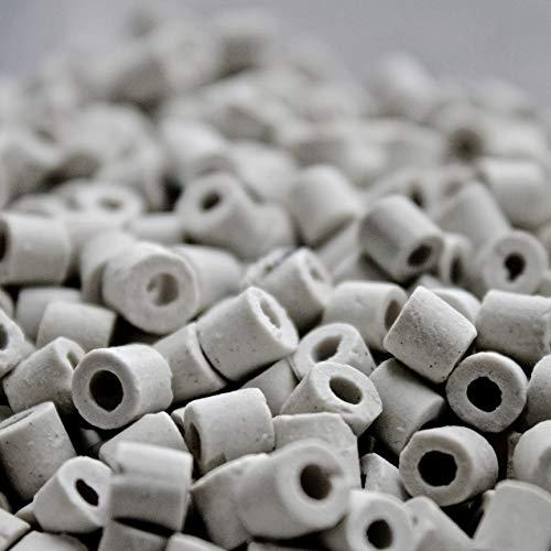 Moonshine Distiller Ceramic Raschig Rings for Reflux Column Packing - 1 Liter (2 lb 9 oz) ()