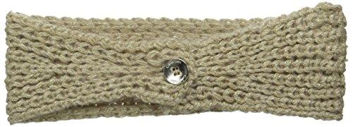Calvin Klein Women's Metallic Shaker Stitch Headband, Heathered Almond, One Size