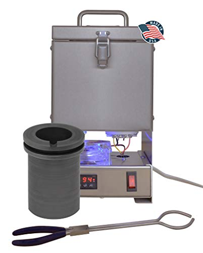 Tabletop QuikMelt 120 oz PRO-120 Melting Furnace - Stainless Steel Kiln Jewelry Making Metal Melting Casting Enameling Glass Fusing Precious Metal Clay Kiln