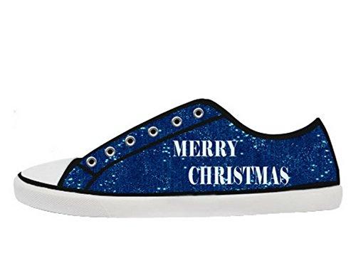 Natale Logo Ladys Antiscivolo Scarpe Di Tela Scarpe Di Tela Di Natale08