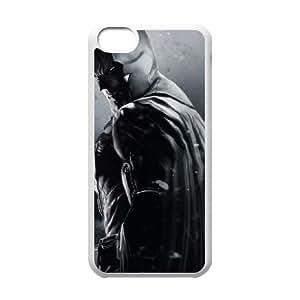 iPhone 5c Cell Phone Case-White Batman Hard Phone Case Protective XPDSUNTR04086