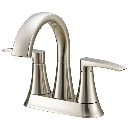 Jacuzzi Lyndsay Brushed Nickel 2-Handle 4-in Centerset WaterSense Bathroom Faucet (Drain Included) (Lined Disc Silver)