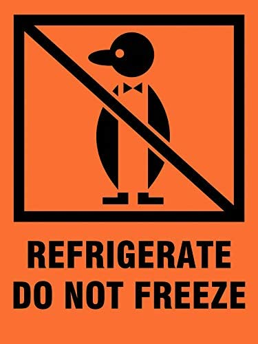 Shipping Labels Refrigerate Do Not Freeze 3 x 4 PK 500