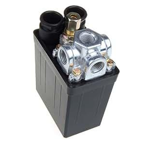 16A-Presostato para compresor? air Control válvula 175PSI 240 V, color negro: Amazon.es: Hogar