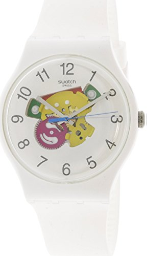 Swatch Originals Candinette White Dial Silicone Strap Unisex Watch SUOW148 by Swatch (Image #1)