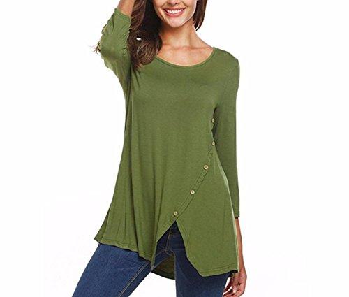 Women Chiffon Short Sleeve T Shirt Casual Tos Ladies Lace Blouse L - 5