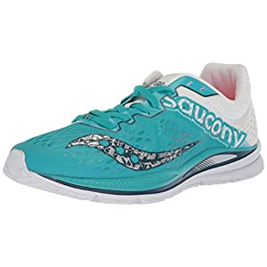 Saucony Women's Fastwitch 8 Cross Country Running Shoe, Teal/White, 8.5 Medium US