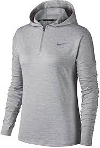 Nike Dri-FIT Element Women's Running Half-Zip Hoodie (Medium, Grey)