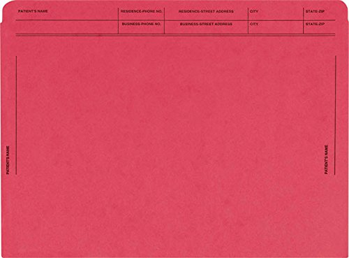 EGP Heavy Duty Colored File Envelopes Printed (Red)