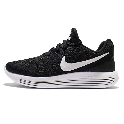 Nike Lunarepic Low Flyknit 2, Scarpe da Running Uomo Black / White-anthracite