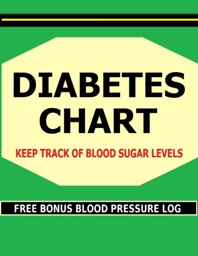 Diabetes Chart: Keep track of Blood Sugar levels in this Diabetes Chart book. Bonus! Includes FREE Blood Pressure - Chart Blood