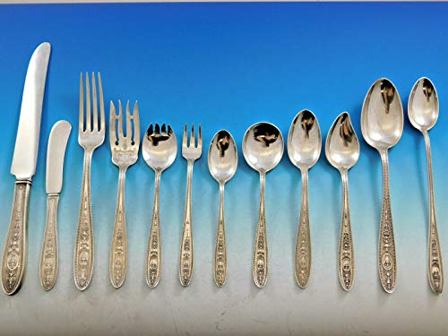 Wedgwood by International Sterling Silver Flatware Set for 8 Service 108 - Sugar Butter Master Spoon Knife