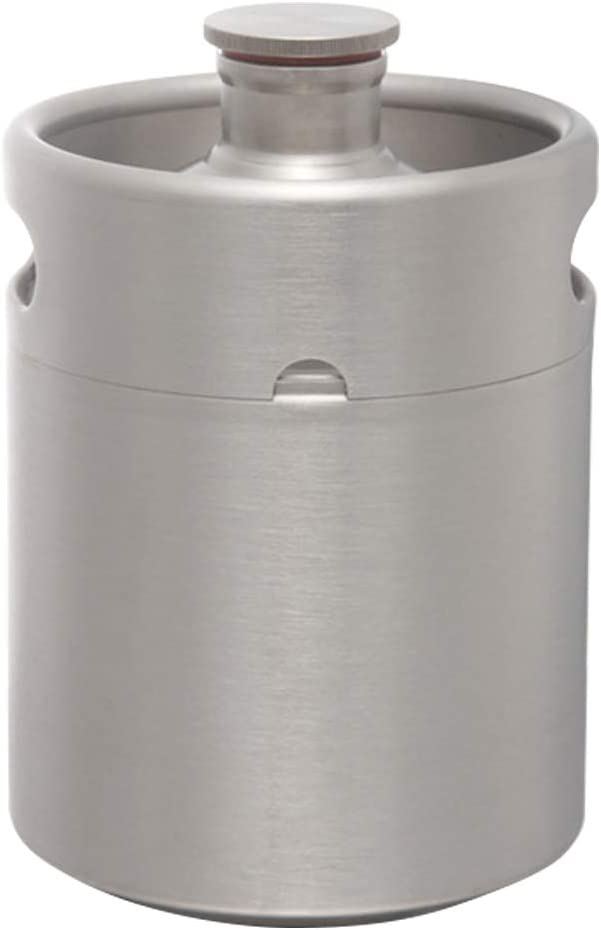 AnBt Stainless Steel Beer Brewing Kegs & Kegging Home Brew Beer Barrel for Beer, Water, Soda, Wine, Coffee, 0.53G-2.11G