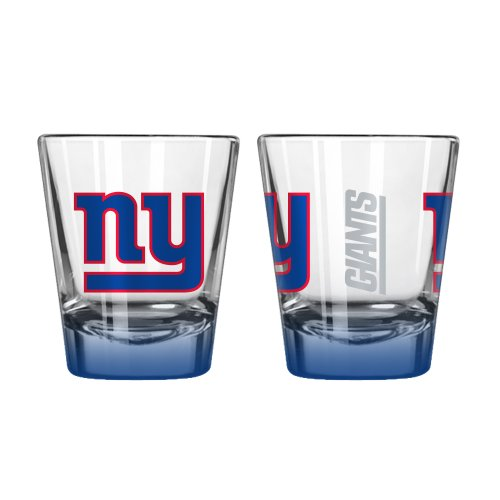 New York Giants Shot Glass (NFL New York Giants Elite Shot Glass, 2-ounce, 2-Pack)