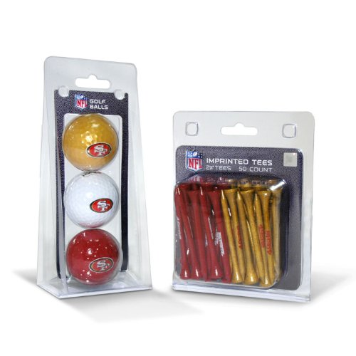 NFL San Francisco 49ers 3 Golf Balls And 50 Golf Tees