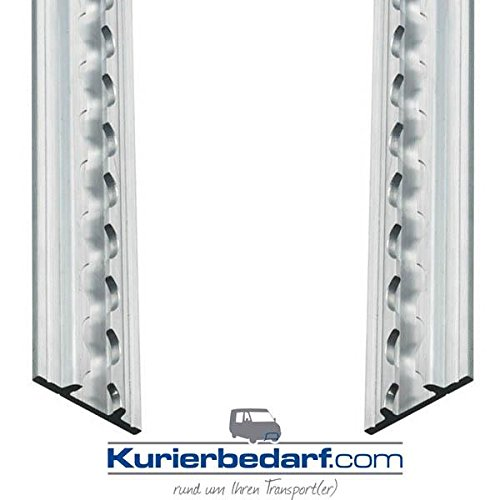 Lot de 2rails aériens / d'amarrage, profil plat; Light, 2mètres 2mètres Kurierbedarf.com