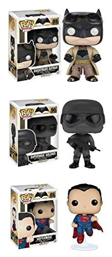 Funko POP! Batman Vs. Superman: Knightmare Batman & Superman w/ Superman Soldier - Vinyl Figure Set NEW