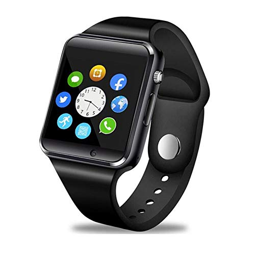 Smart Watch - Wzpiss Bluetooth Smartwatch Touchscreen Wrist Watch Sports Fitness Tracker with Camera Pedometer SIM/SD Card Slot Compatible Samsung Android iPhone iOS for Women Kids Men (Black)