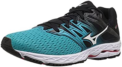 Mizuno Women's Wave Shadow 2 Running Shoe, Black/Trade Winds, 6 B US